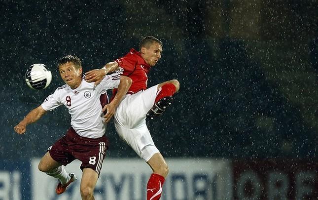 Александр Цауня в составе сборной Латвии