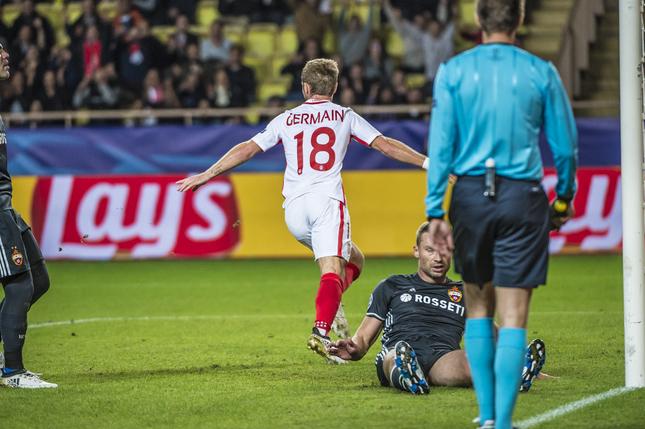 Жермен открыл счет в матче. Фото: ФК Монако
