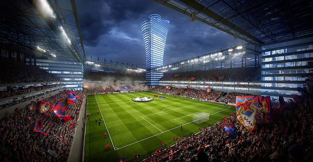 CSKA arena by Cubic Meter